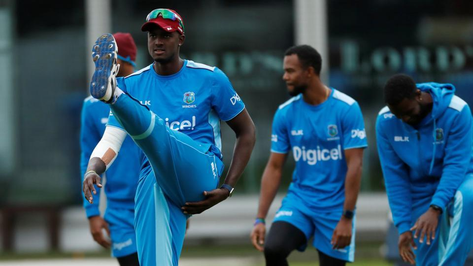 West Indies cricket team skipper Jason Holder leads the team during nets session at Lord's on Tuesday. The third Test between WI and England cricket team will begin at the stadium from Thursday