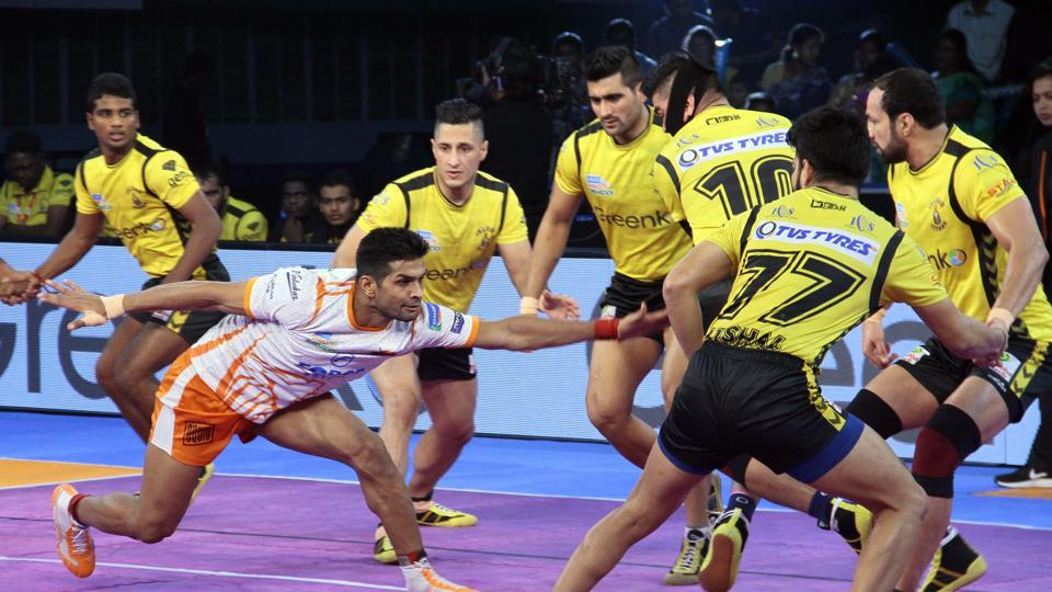 Puneri Paltan survived some tense moments to win against Telegu Titans in the Pro-Kabaddi League encounter.
