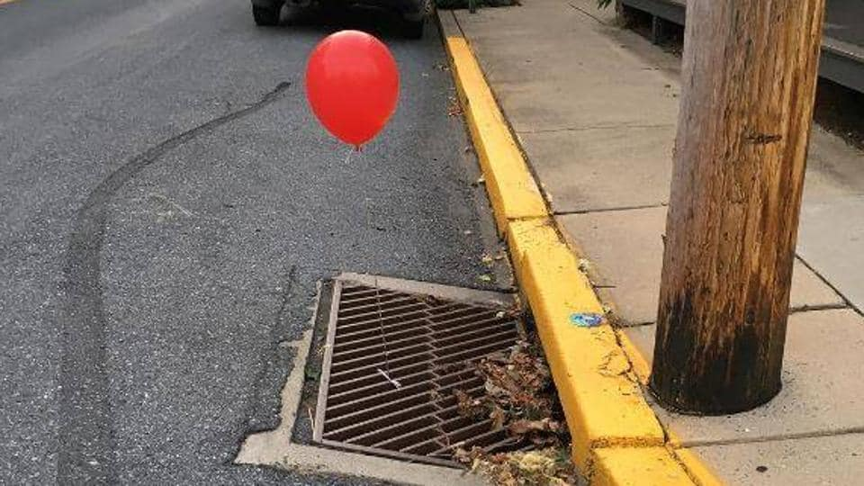 A red balloon is the calling card of Pennywise, the sewer-dwelling, child-eating clown in Stephen King's novel-turned-movie.