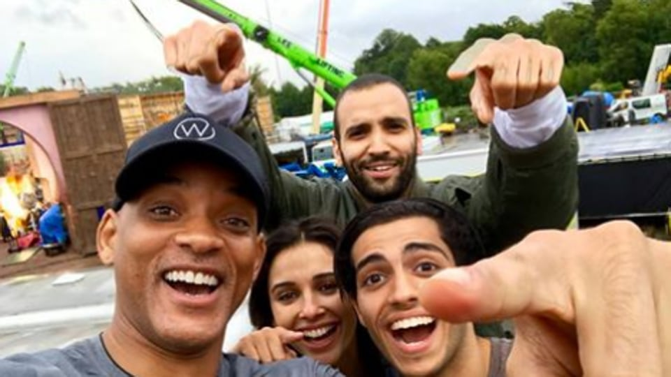 Will Smith will be joined by Mena Massoud (Aladdin), Naomi Scott (Jasmine) and Marwan Kenzari (Jafar) in the live action Aladdin movie.