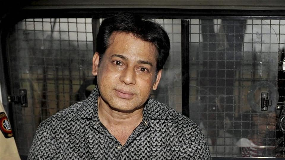 A file photo of extradited gangster Abu Salem who was convicted by a special TADA court in 1993 Mumbai blasts case, in Mumbai on Friday.