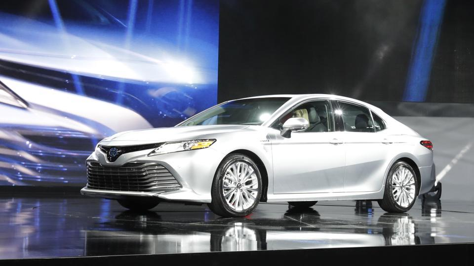 The 2018 Toyota Camry is presented at the North American International Auto show in Detroit.