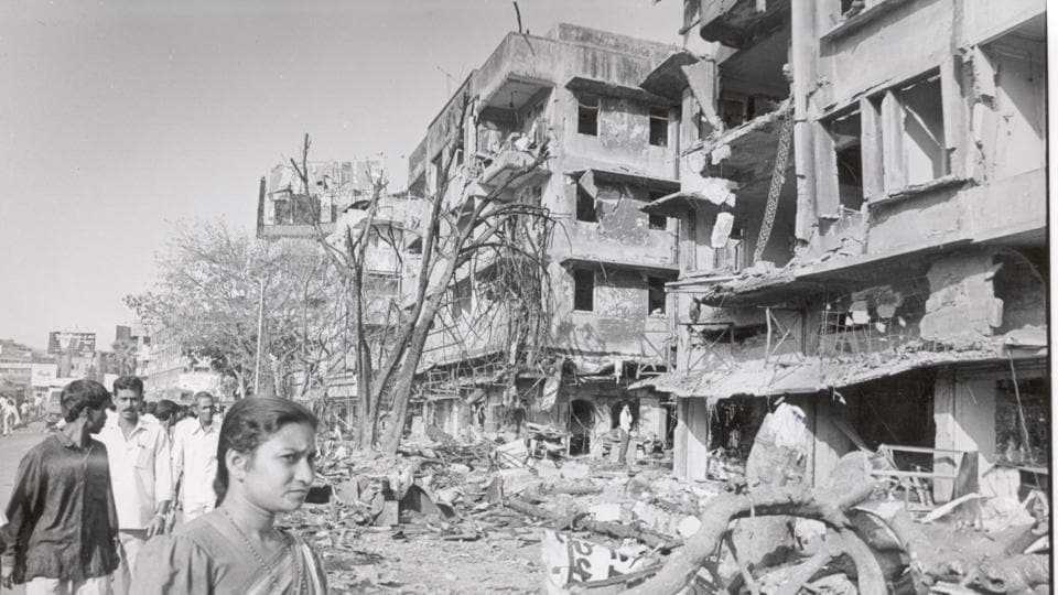 A building in Worli destroyed by blasts that rocked Mumbai in 1993.