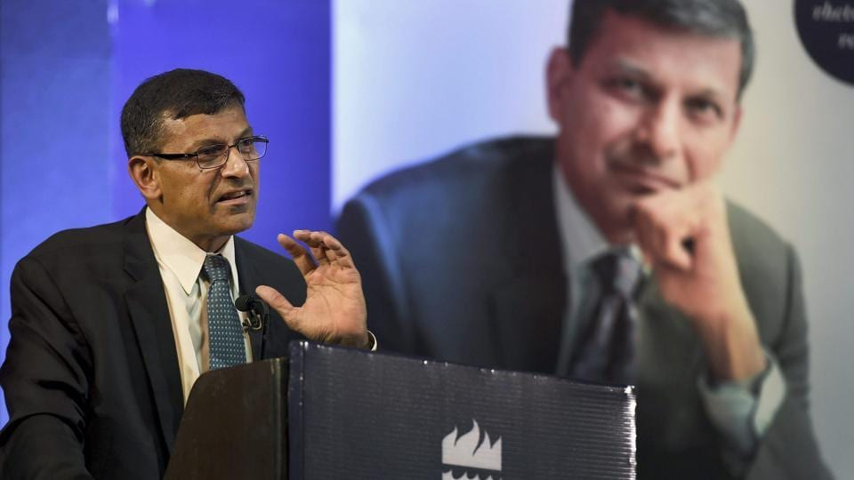 Former RBI governor Raghuram G Rajan makes an address during the release of his book 'I do What I do' at a function in New Delhi on Thursday.