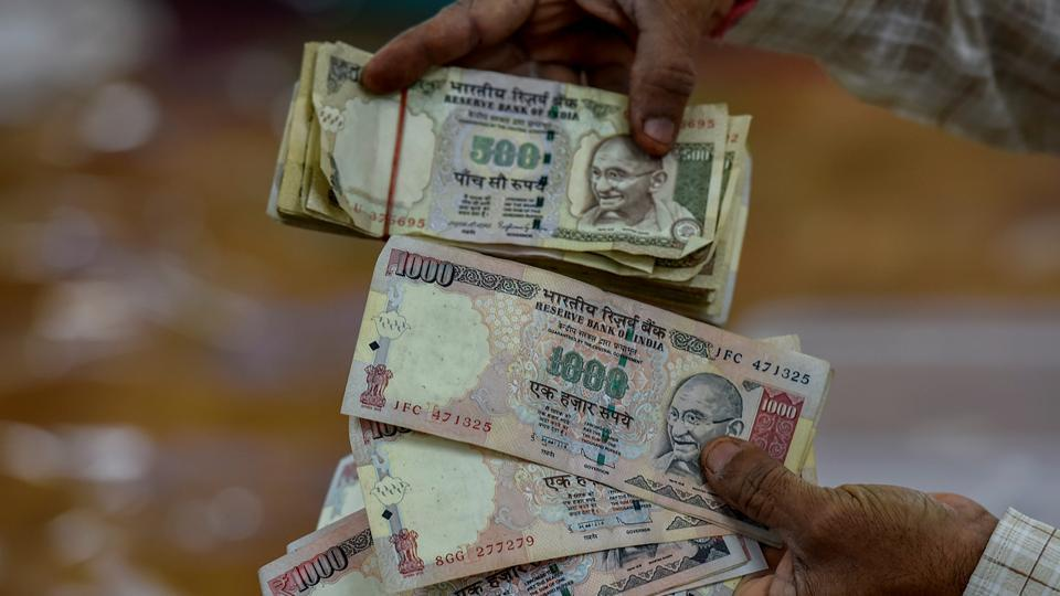 OLD IS NOT GOLD: Scrapped notes too were among the donation. (Kunal Patil/HT Photo)