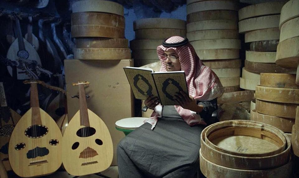 Actor Moayed al-Nefaei performs in the Saudi short film Wasati, which translates to