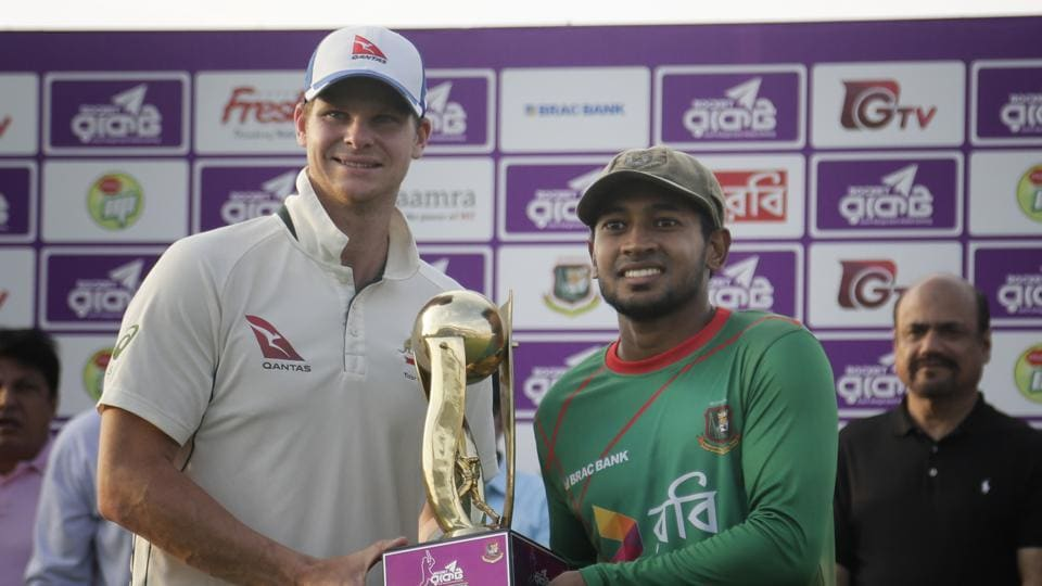 Steve Smith-led Australia beat Bangladesh by seven wickets in Chittagong to level the two-Test series 1-1.