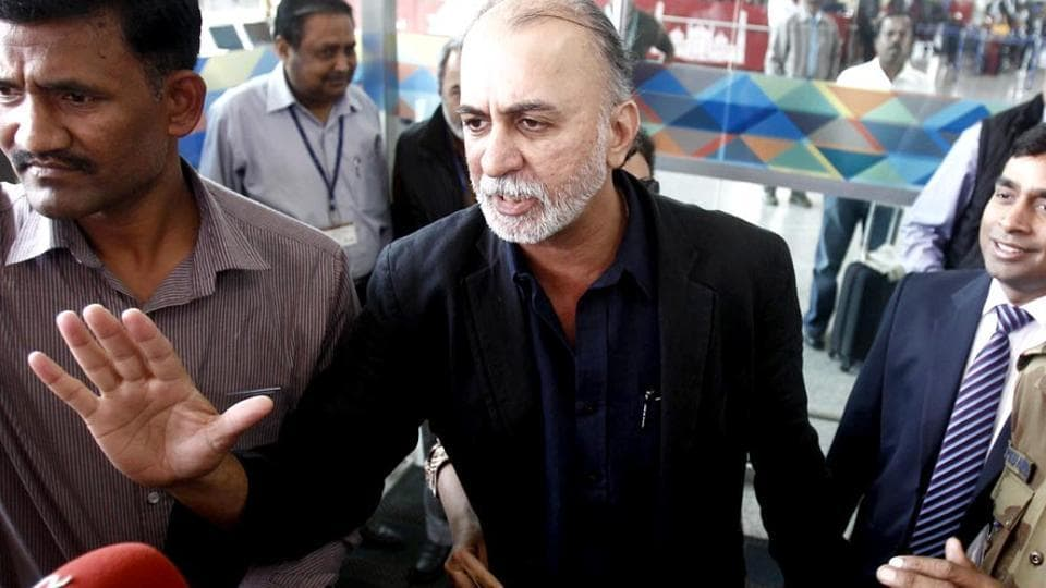 File photo of Tarun Tejpal, former founder and editor-in-chief of Tehelka, at Delhi airport.