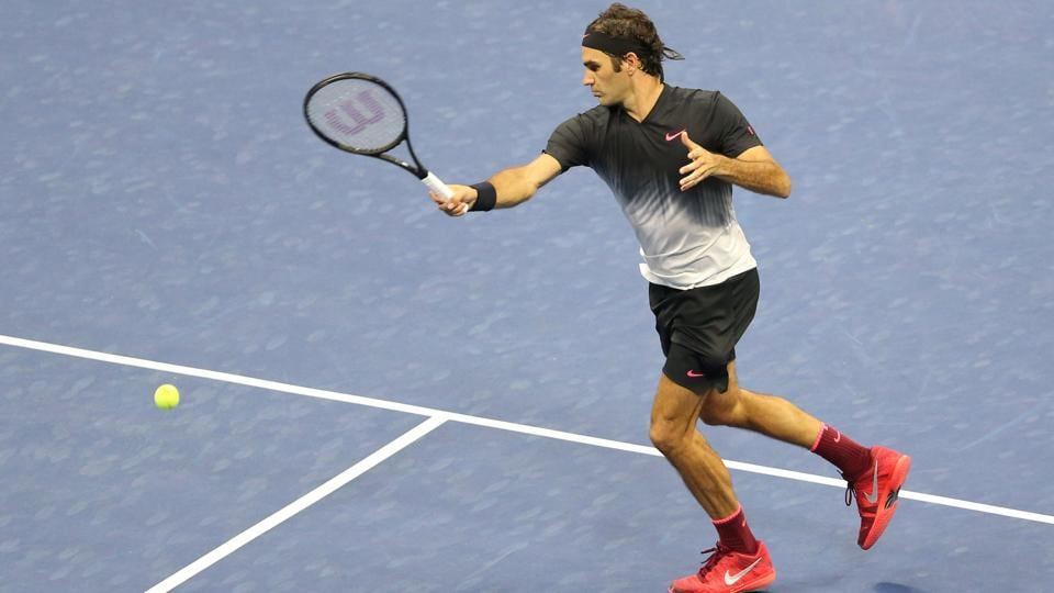 Roger Federer of Switzerland returns a shot to Juan Martin del Potro of Argentina. (USA Today Sports)