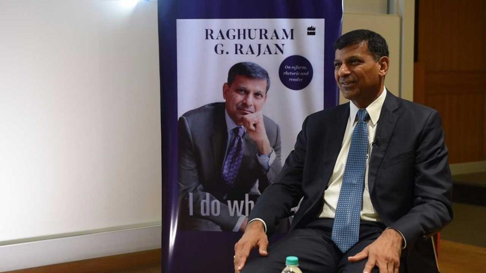 Former RBI governor Raghuram Rajan speaks to Hindustan Times on his new book – I do what I do- on Thursday.