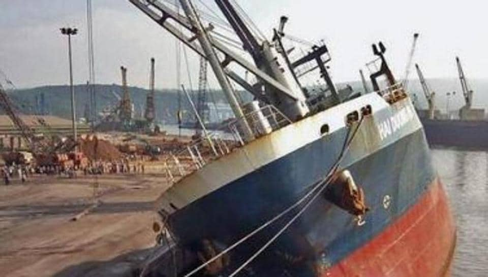 PL Haranath, deputy chairman of Port Trust, clarified to HT that stevedore of cargo, which loaded the iron billets, was Srivalli Shipping and not JM Baxi and Co., as reported earlier.