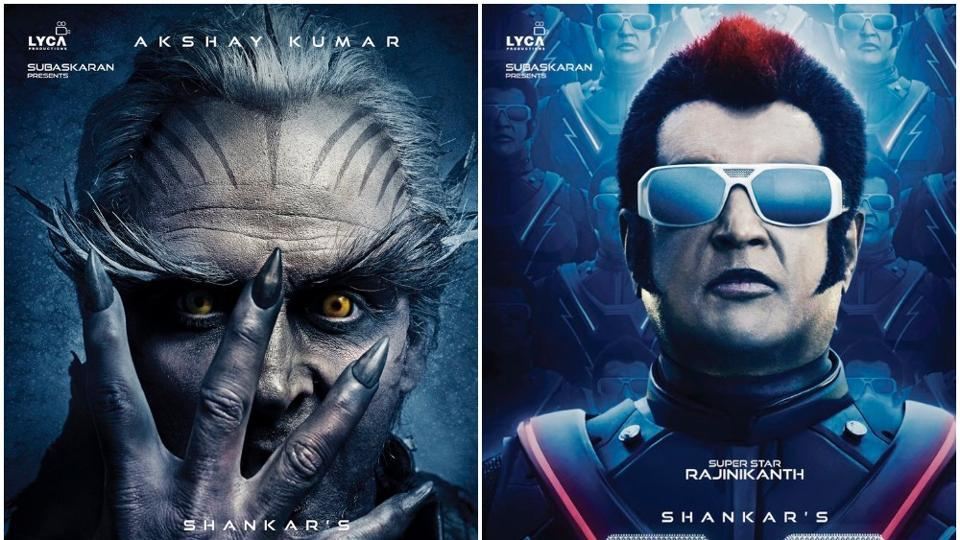 2.o stars Rajinikanth and Akshay Kumar in the lead roles.
