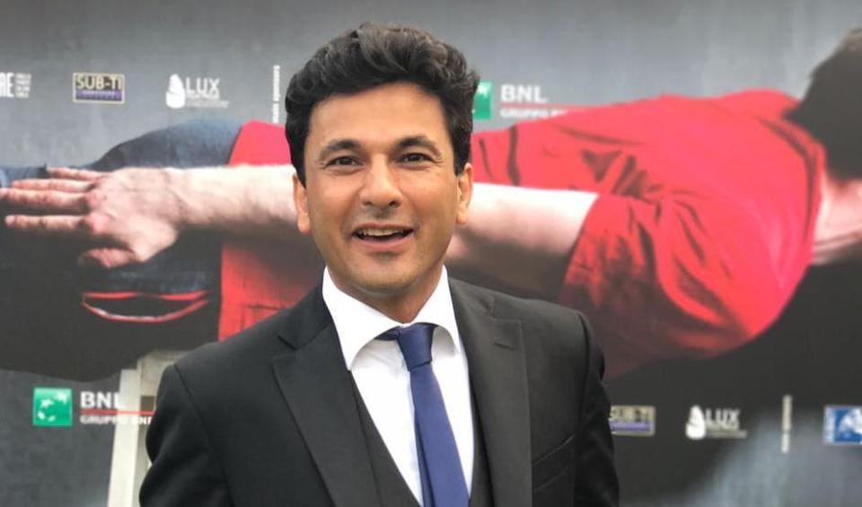 Chef Vikas Khanna on the red carpet of the 74th Venice International Film Festival
