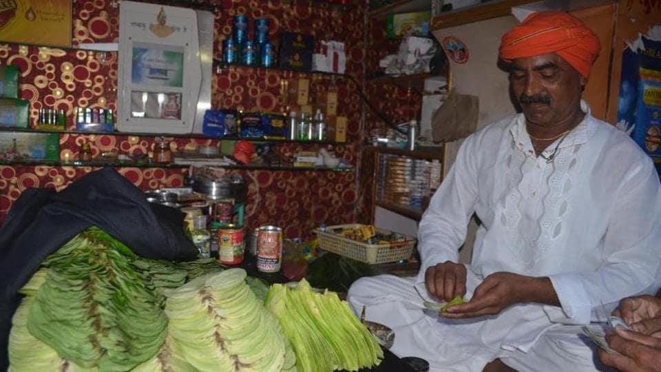A paan shop in Varanasi.