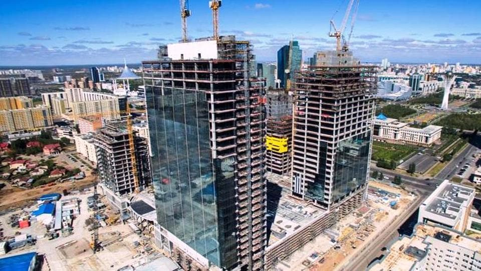 File photo of the construction site of the Abu Dhabi Plaza in Astana, where Indian workers  were reportedly involved in a mass brawl with their Kazakh colleagues.
