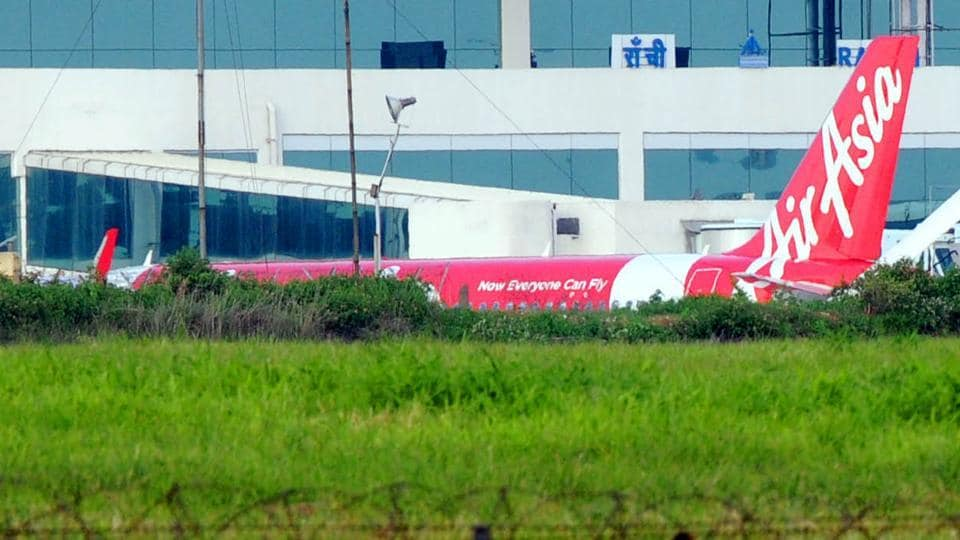 AirAsia flight grounded after bird hit on its engine at Birsa Munda Airport in Ranchi on July 15.