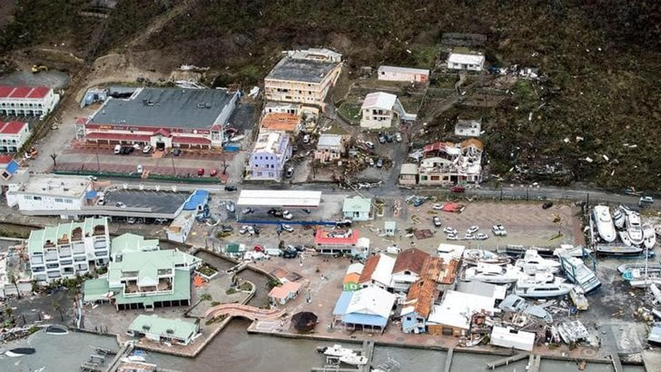 View of the aftermath of Hurricane Irma on the Sint Maarten Dutch part of Saint Martin island in the Carribean.The tropical storm slammed into the Caribbean on Tuesday and is expected to make its way to a chain of small islands along a path toward the Dominican Republic, Haiti, Cuba before aiming straight for South Florida. It has already hit Puerto Rico. (Netherlands Ministry of Defence/Handout via REUTERS)