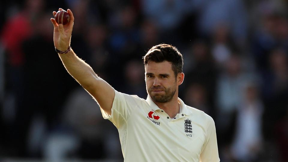 James Anderson celebrates the wicket of Kraigg Brathwaite and his 500th test wicket during the ongoing third Test between England - West Indies. Follow full cricket score of England vs West Indies, Day 2 here
