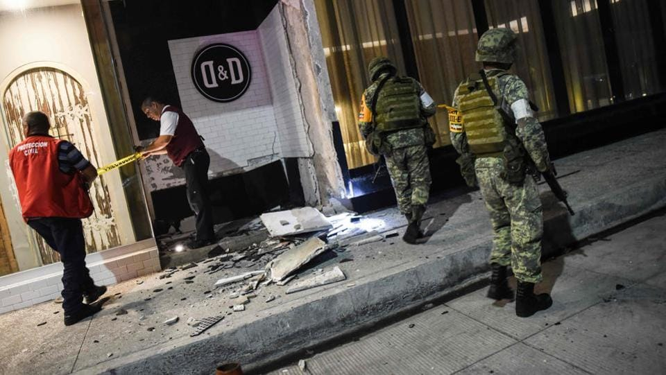 At least six people, including two children have died in a powerful earthquake that rocked southern Mexico overnight on Thursday. Its epicentre was 123 km (76 miles) southwest of the town of Pijijiapan, at a depth of 33 km (21 miles).The interior ministry said the quake had a magnitude of 8.4, while the US Geological Survey put it at a revised 8.1, up from 8.0 initially. (Victoria Razo / AFP)