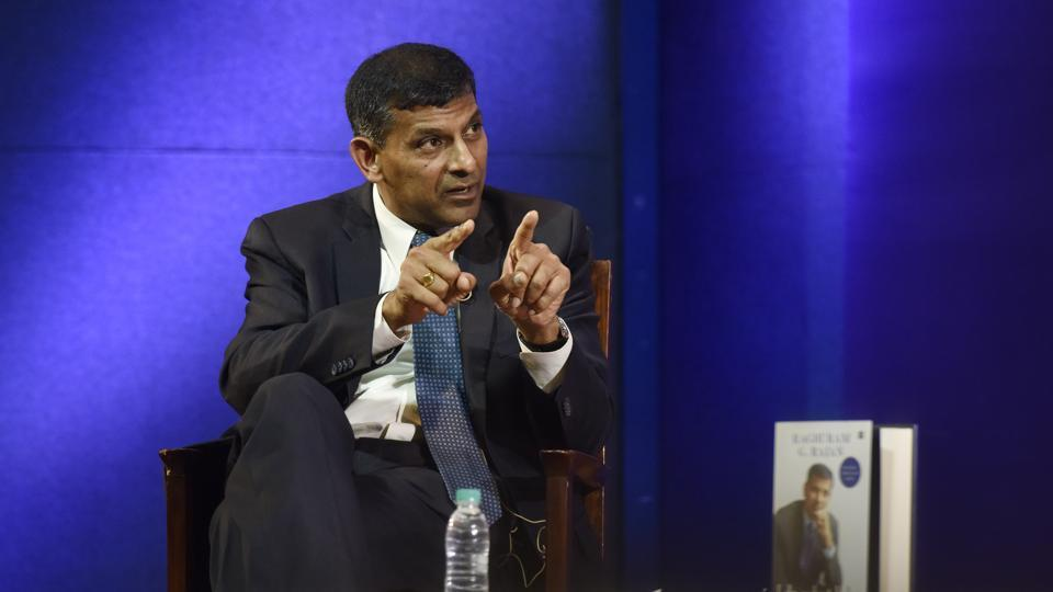 Former RBI governor Raghuram Rajan during an interview with HT in New Delhi on Thursday.