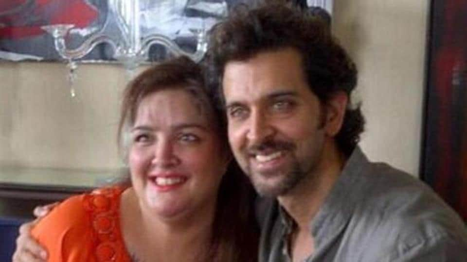 Sharing a 'then and now' picture of Sunaina Roshan, Hrithik says he is proud of her transformation.