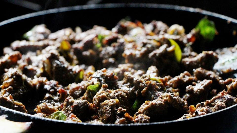 Beef Ularthiyathu Is another variation of a roast especially native to Kottayam in Kerala. (Shutterstock)