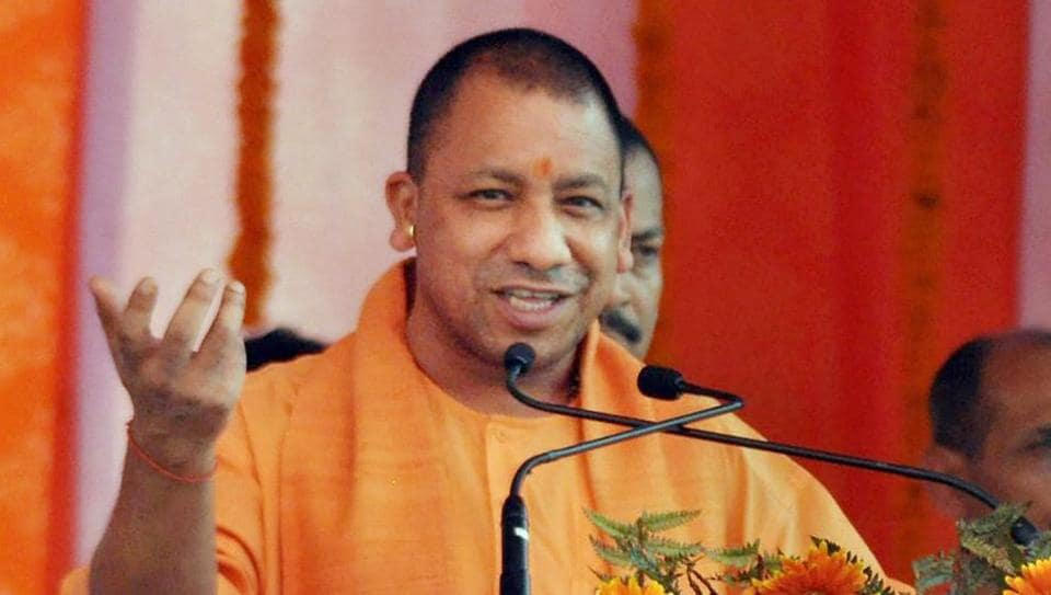 UP Chief Minister Yogi Adityanath addressing at a function in Moradabad on Sunday.