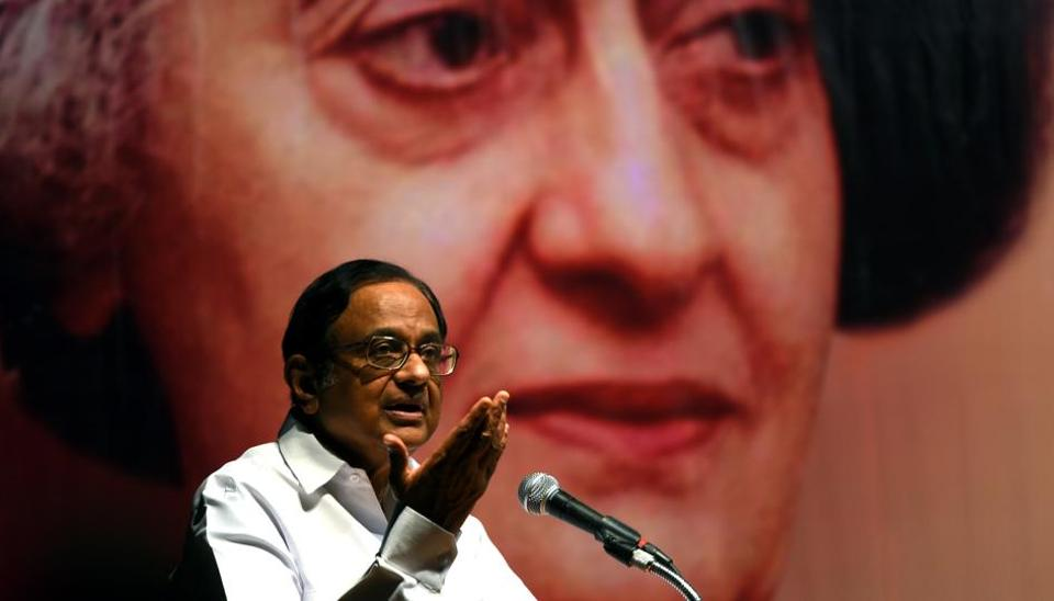 Ex. Finance minister P. Chidambaram during seminar on Indira then, India now foreign policy challenges at Y.B.Chavan auditorium, Nariman point in Mumbai, India, on Saturday, September 09, 2017.