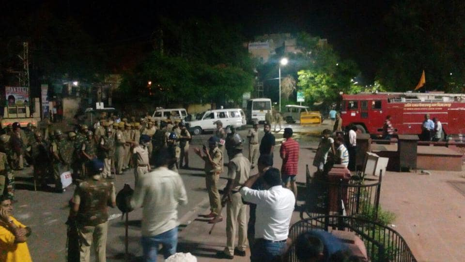 Curfew has been imposed in Manak Chowk, Subhash Chowk, Galta Gate and Ramganj police station areas of Jaipur.