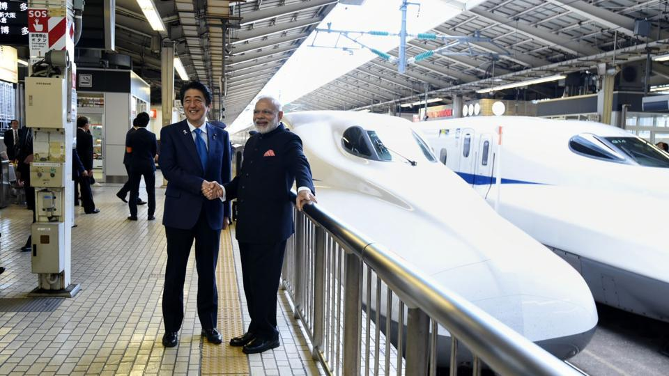 The bullet train, which has a capacity to accommodate 750 people, is expected to reduce travel time between the two cities from seven to three hours.