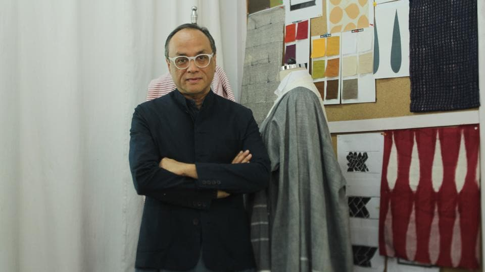 Fashion designer David Abraham studied textile design at the National Institute of Design, Ahmedabad, in the '80s.