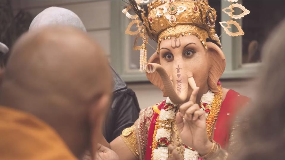 A recent advertisement that sparked outrage for depicting Ganesha eating lamb meat has been taken down in India.