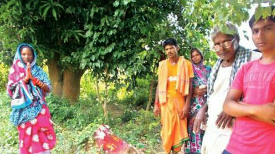 Odisha couple perform puja to 'resurrect' their dead child in Ganjam district .