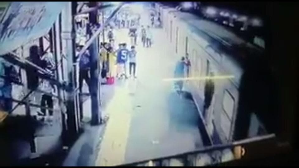 A video grab from the CCTV footage of the incident.