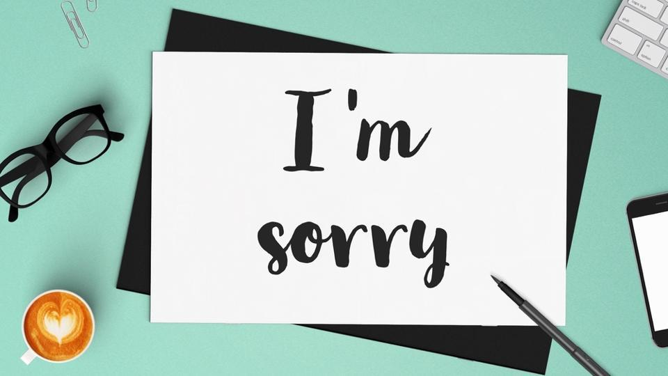 Saying sorry,When to say sorry,Social rejection