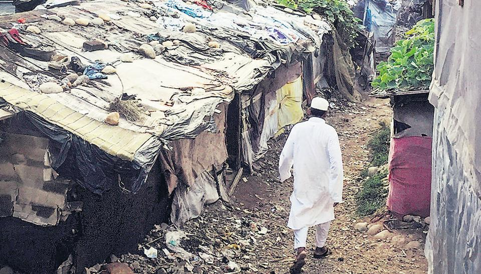 A view of the Rohingya camp in Jammu. There are about 5,700 Rohingya refugees living in Jammu.