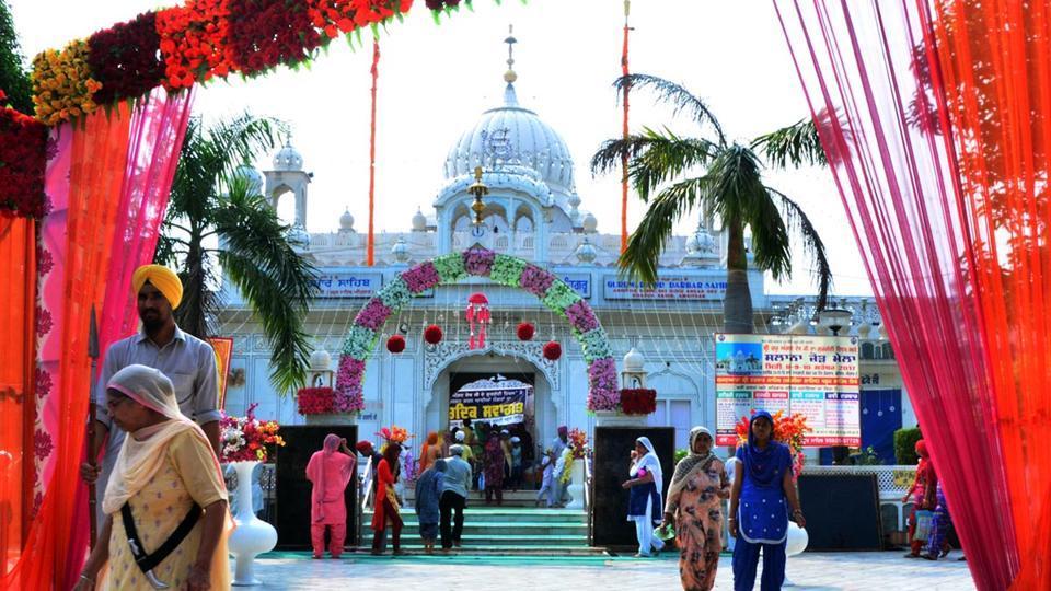 Decorated Sri Darbar Sahib on occasion of Gurta Gaddi Divas of Sri Guru Angad Dev Ji at Khadoor Sahib in Tarn Taran on Saturday.