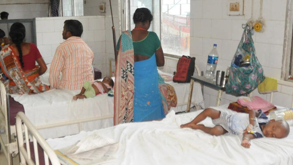 Paediatric ward of Jamshedpur's  MGM hospital where 170 children died in the past four months.