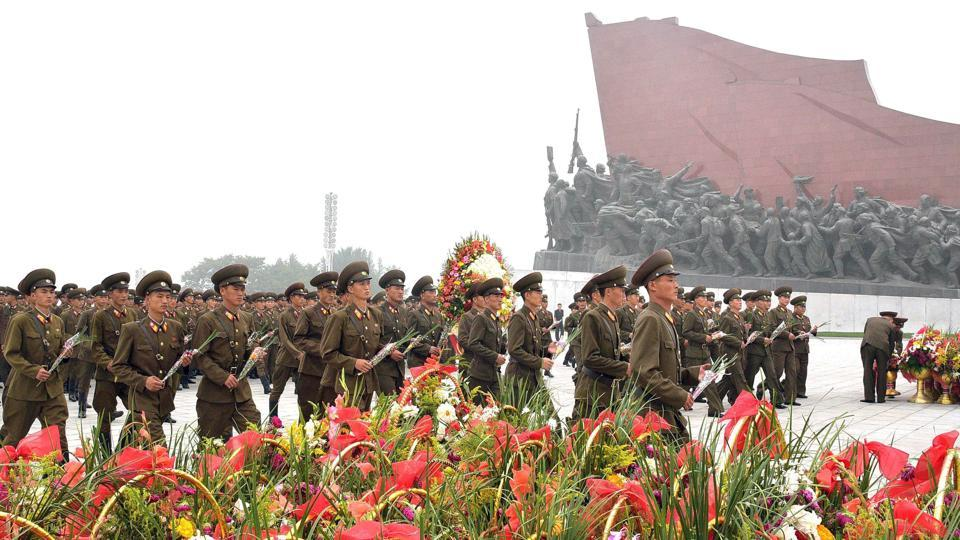 North Korean soldiers are seen during the 69th founding anniversary of the country at Mansudae hill in Pyongyang, North Korea September 9, 2017.