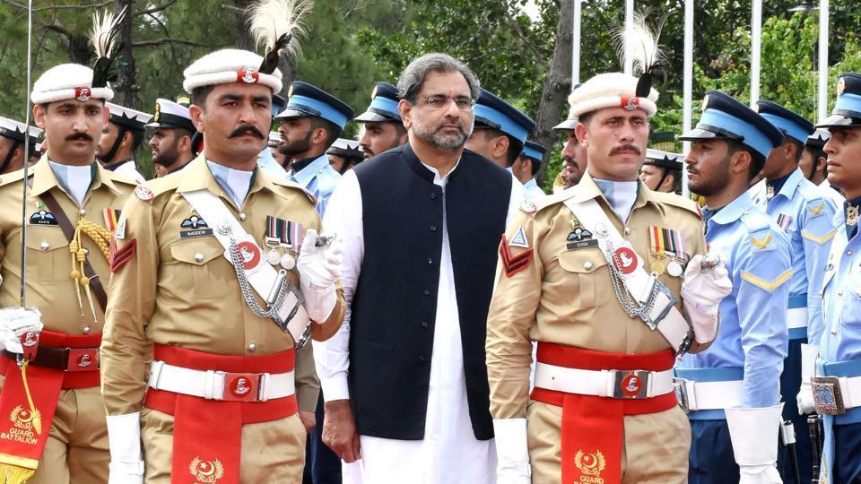 Pakistan's new prime minister Shahid Khaqan Abbasi .