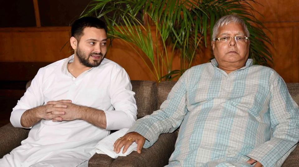 RJD chief Lalu Prasad and his son Tejashwi  Prasad Yadav.