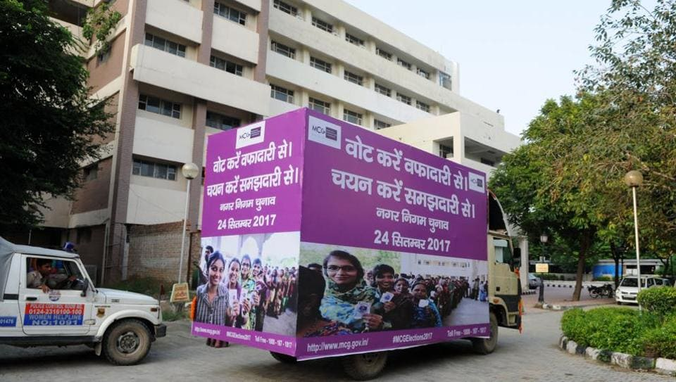 The nomination process for the second Municipal Corporation of Gurugram (MCG) election for 35 wards began on Friday.