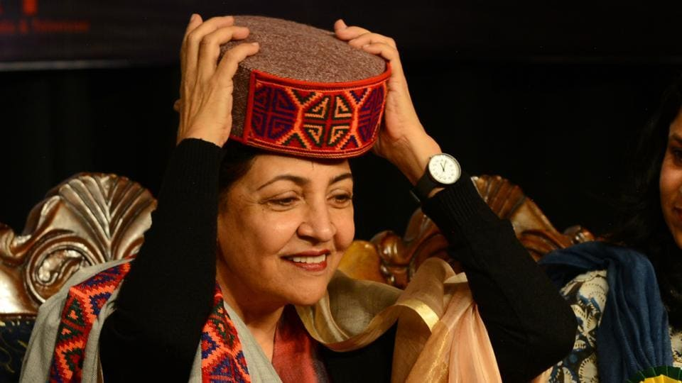 Veteran actor Deepti Naval at the inauguration ceremony of  the third International Film Festival in Shimla on Saturday.