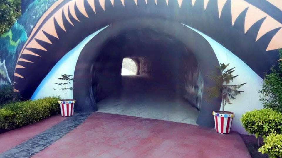 Entry to a secret tunnel at the Dera headquarters in Sirsa.