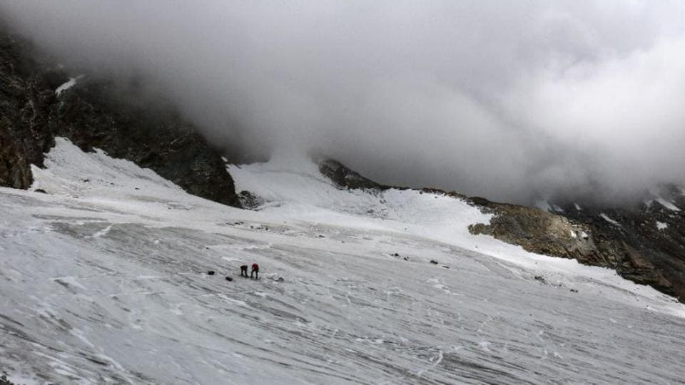 More than 220 people living in the ski resort of Saas-Fee had to leave their homes on Saturday as authorities feared a collapse of the glacier could trigger an ice avalanche which could reach the village.