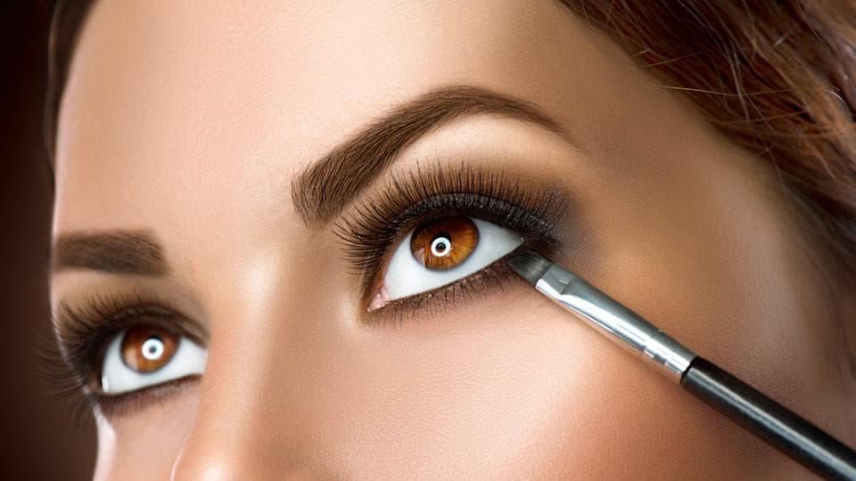 Another great tip for small eyes is to smudge your liner a little bit.