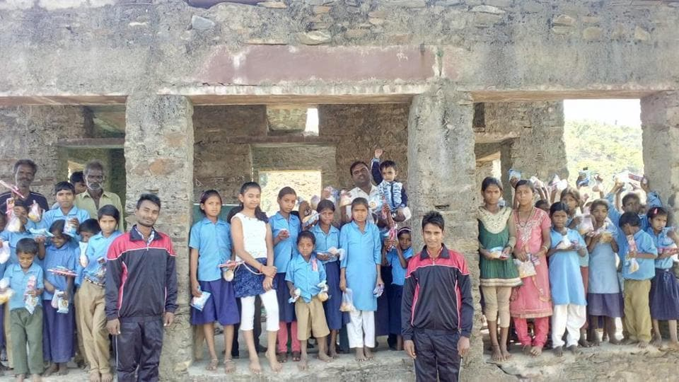 Sonu Meena and Ramlal, who run the makeshift school, don't charge any fee.