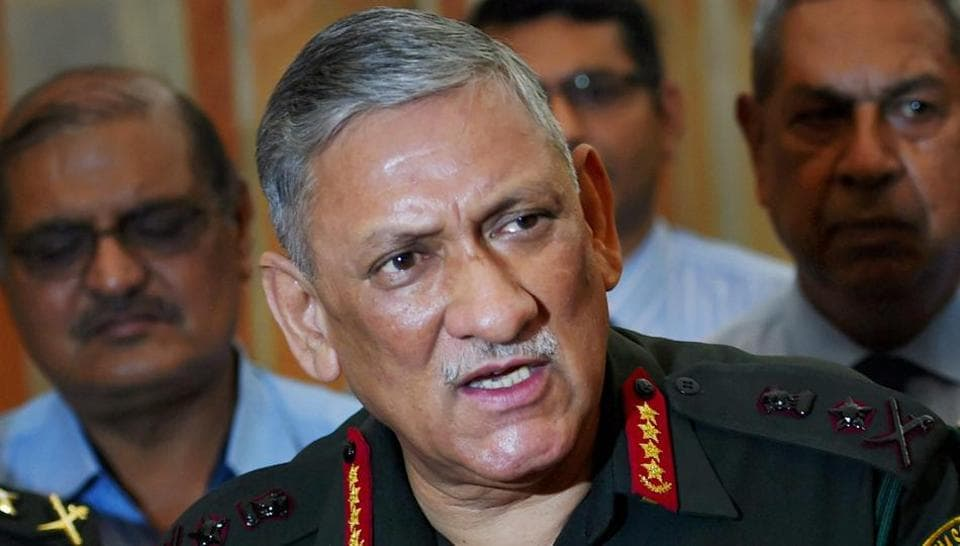 Army chief,General Bipin Rawat,China