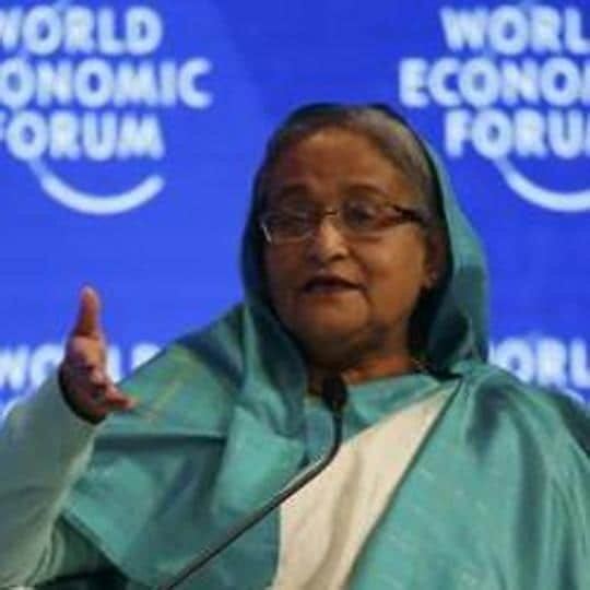 Bangladesh's Prime Minister Sheikh Hasina, attends the annual meeting of the World Economic Forum (WEF) in Davos, Switzerland, January 18, 2017.