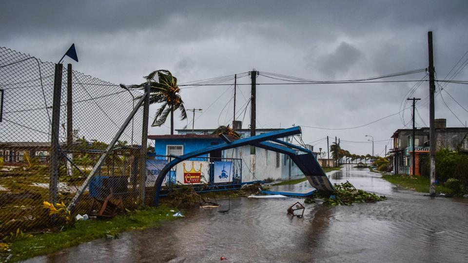 Damages caused by the passage of Hurricane Irma in Caibarien, Villa Clara province, 330km east of Havana, on September 9, 2017.